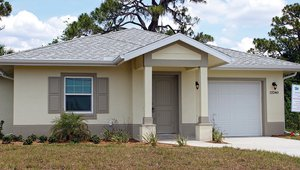 Habitat for Humanity South Sarasota built the Saragossa Innovation Home in Venice, Florida, to the DOE Zero Energy Ready Home (ZERH) program requirements.