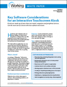 Key Software Considerations for an Interactive Touchscreen Kiosk