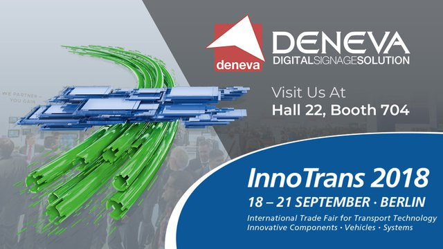 ICON  Multimedia to Present DENEVA Digital Signage Solutions at InnoTrans 2018