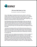 A Microspace Digital Signage Case Study
