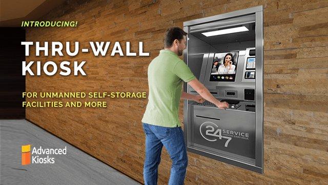 Thru-Wall Kiosk Ideal for Self-Storage Facilities
