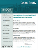 Velocity Cellcast Connects Retail Digital Signage Opportunity for Success