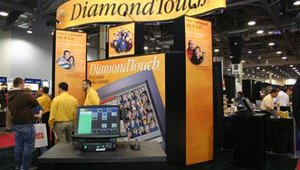 DiamondTouch brought its POS solutions.
