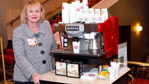 Vickie Grimes from Summit Gold sponsor Boyds Coffee