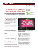 Effective Content for Digital Out-of-Home Advertising