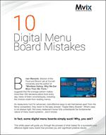 10 Digital Menu Board Mistakes