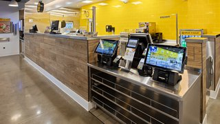 Which Wich franchisee upgrades with digital signage, kiosks