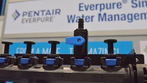 Pentair- Everpure SimpliFlow Water Management System is a wall-mounting manifold for water lines that keeps them organized, accessible and easily identifiable to save time and reduce error when servicing water-using equipment.