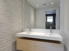 The home was equipped with water-saving, efficient plumbing fixtures.
