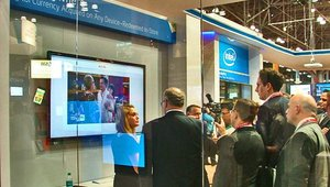 The Intel booth was SRO at the show.