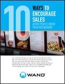 10 Ways to Encourage Sales with Digital Menu Boards