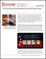 Declaration of Independence Museum Table Kiosk