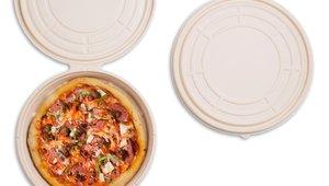 Circle gets the square: Cornering the pizza box corner problem