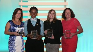 Tracy Treadwell, Dunkin' Brands, Felicia White, Church's Chicken, Susan Wasco, The Kellogg Company, and Maureen Lynch, Rich Products, made this year's Women Making Their Mark list, recognizing up-and-coming leaders.