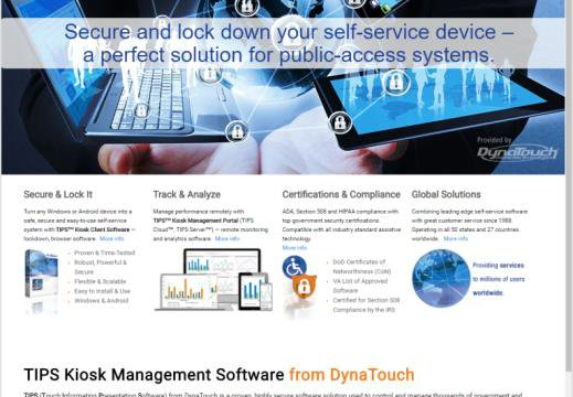 DynaTouch launches new website for TIPS™ Kiosk Management Software ...