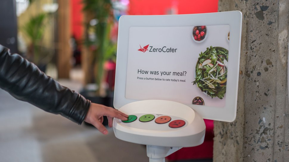 Catering services firm taps customer satisfaction kiosks to boost customer feedback