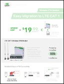 Wireless ATM Solution: Easy & Affordable Migration to LTE CAT 1