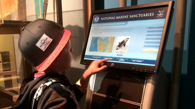 Science center kiosks teach users about ocean conservation