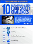 10 Most Commonly Observed Food Safety Challenges