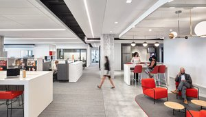 Work neighborhoods with open floor plans give employees the flexibility choose the space that fits their needs. Photos via McDonald's Corp.