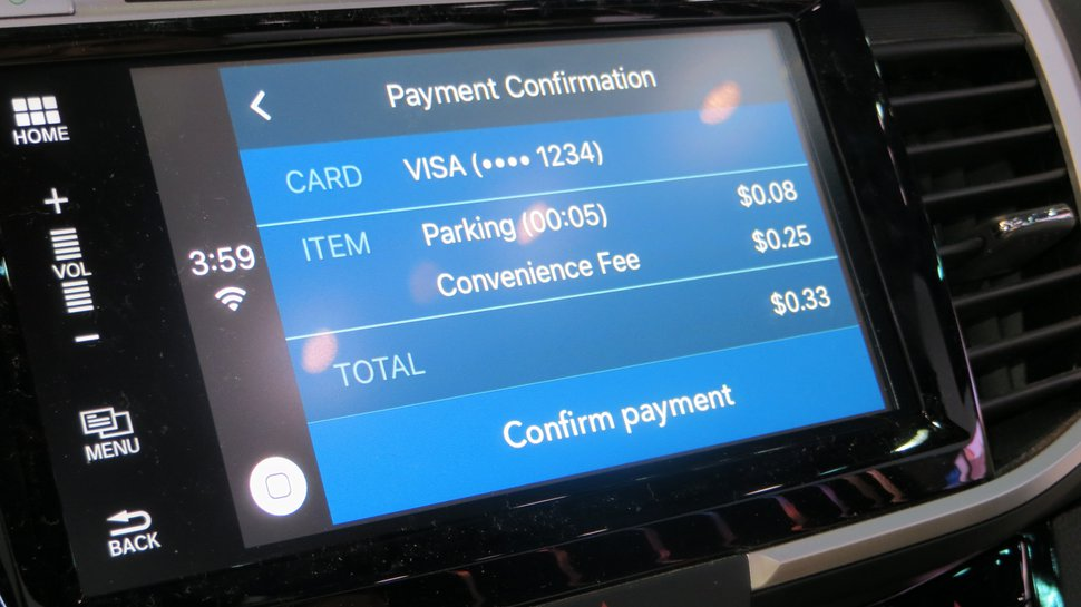 Are in-car payments innovative?
