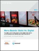 Menu Boards: Static Vs. Digital