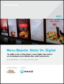 Menu Boards: Static Vs. Digital