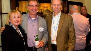 From left: Vickie Grimes of Boyds Coffee, Ric Pratte of Meltwater Group, and Randy Layton, Boyds Coffee