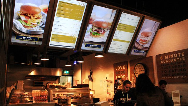 Digital Menu Boards Boost Burger Chain S Sales By 50