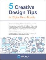 5 Creative Design Tips for Digital Menu Boards