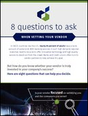 8 Questions to Ask Your Vendors