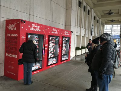 Charities Launch Giving Machines In New Yorks Lincoln Square