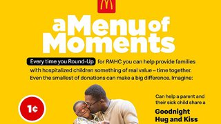 McDonald's adds tech to 'round up' purchases to support Ronald McDonald Houses