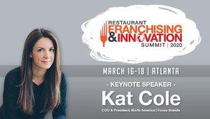 Kat Cole keynoting 2020 Restaurant Franchising and Innovation Summit