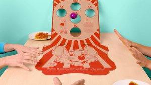 Chuck E. Cheese delivers pizza + play