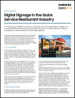 Digital Signage in the Quick Service Restaurant Industry