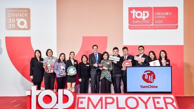 Yum China wins Top Employer China for 2nd straight year