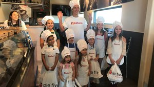 Pie Five creating pizza-crafting kids