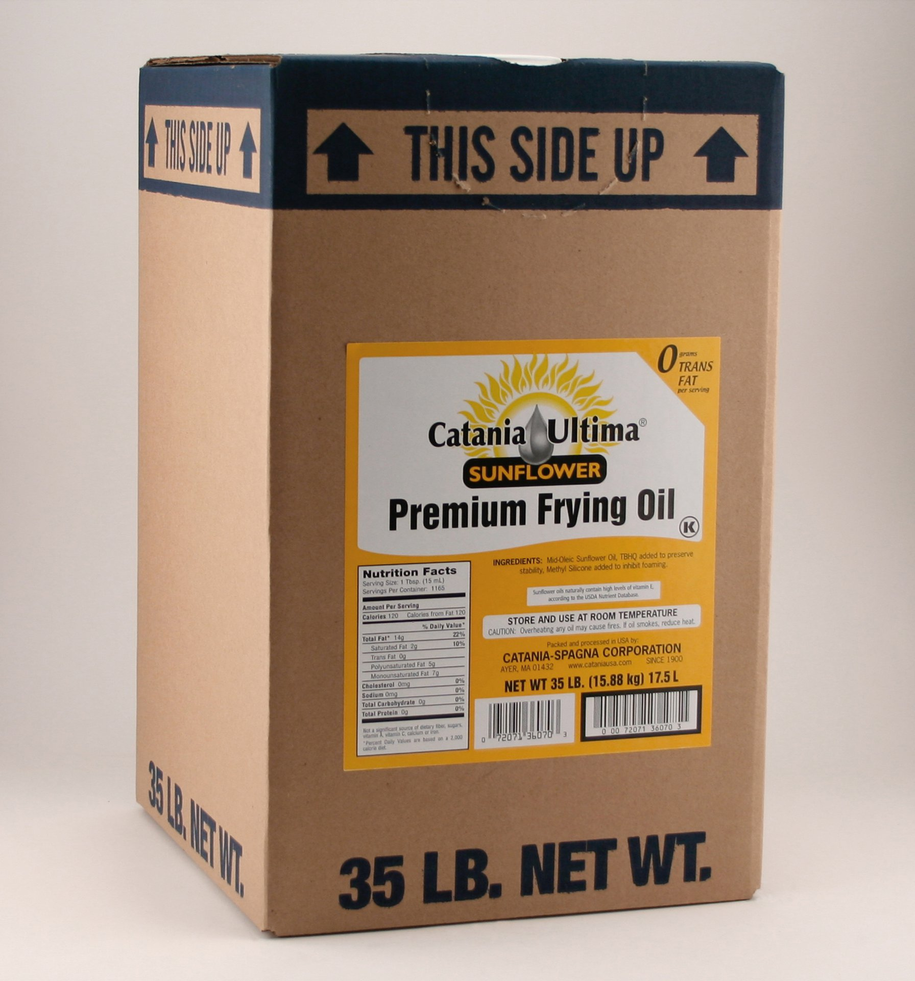 35 lb. JIB Ultima Sunflower Oil / Catania Oils