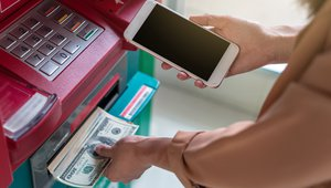 What does the decline in ATM withdrawals mean for cash?