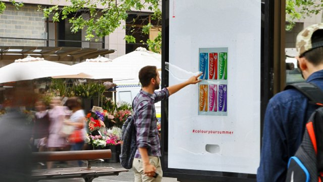 Coke digital signage brings some cool summer color to Oz
