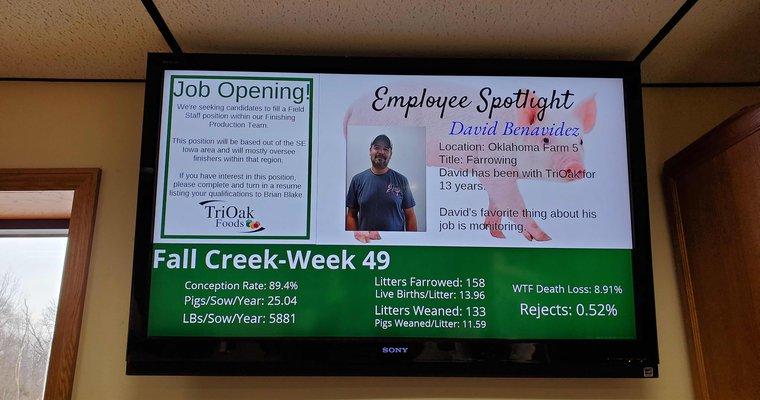 Carousel Digital Signage delivers digital signage to TriOak Foods