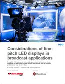 Considerations of fine-pitch LED displays in broadcast applications