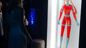 Holographic digital signage delivers interactive characters